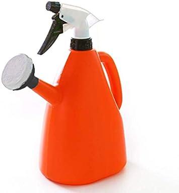 Outflower Herramientas de jardinería regadera Uso dual plástico regadera/mano pulverizador a presión Rociador de pulverizador , Naranja, 23x11.5CM,1000ML,Regar / Hacer el trabajo de casa