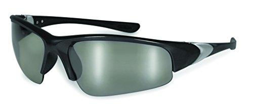 SSP Eyewear 95463 Entiat Unisex 1.25 Bifocal/Reader Safety Glasses with Black Frames & Silver Mirror - Specialized Sunglasses