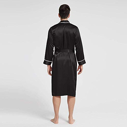 Loungewear Accappatoio Schwarz Comoda Primavera Stlie Tinta Vestaglia 88 Unique Costume Bagno Bobo Unita Leggera Uomo Autunno Da 3qAjcLS54R