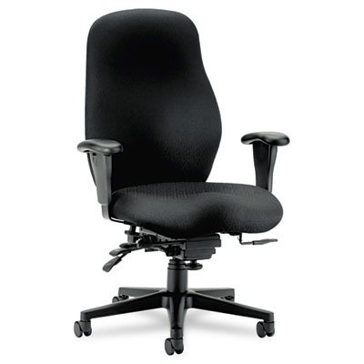 Hon 7800 Series High-Performance High-Back Executive/Task Chair, Tectonic Black - Chair Black Tectonic Fabric