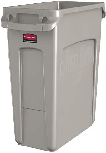 Rubbermaid Commercial Products Slim Jim Rectangular Trash/Recycling Cans