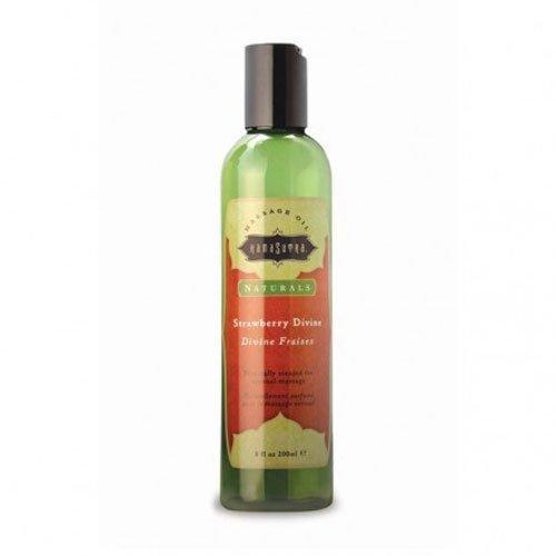 Kama Sutra Massage Oil Naturals in Strawberry Divine,8 fl oz - Kama Sutra Massage Oil