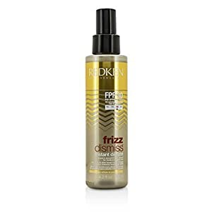 Redken Frizz Dismiss FPF 30 Instant Deflate Leave in Smoothing Oil Serum, 4.2 Ounce