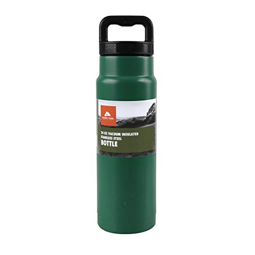 Ozark Trail 24ounce Vacuum Insulated Stainless Steel Water Bottle, Green