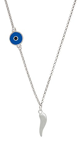 Italian Horn Evil Eye - Good Luck Italian Horn Delicate Evil Eye Necklace