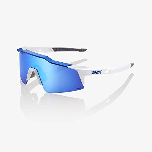 Amazon.com: 100% Speedcraft SL blanco mate/azul metálico ...