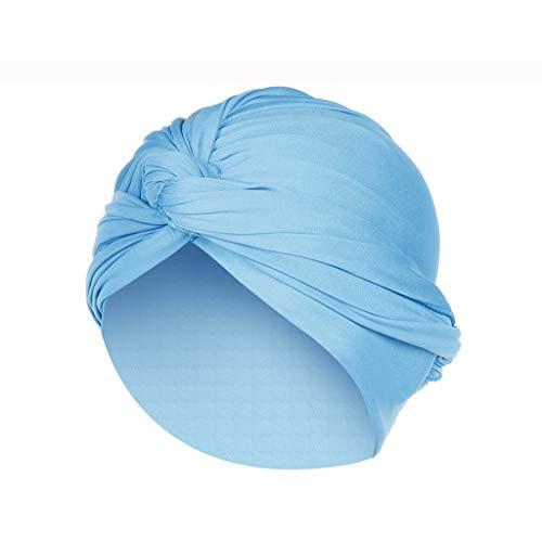 (LUXISDE Hat Women Summer Sun Women Solid India Hat Muslim Ruffle Chemo Beanie Turban Wrap Scarf Cap37)
