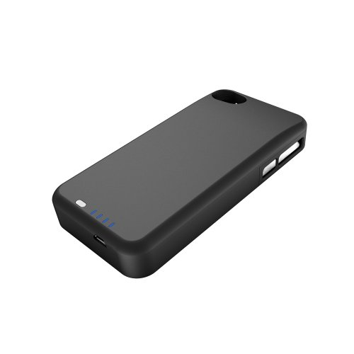 uNu Power DX PLUS External Protective Battery Case for iPhone 4S and 4 2400mAh - MFI Apple Certified (Matte Black, Fits All Models iPhone 4S/4)