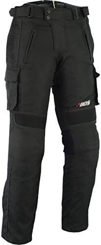 BOS Motorradhose Textil Schwarz Gr, XS