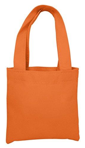 Reusable Mini Party Favor & Goodie Bags, Non-Woven Small Gift Totes, Orange, Set of 50