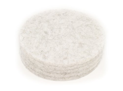 - Clarke 976327 Commercial 20 Inch Diameter Natural Blend White High Speed Burnishing Pad, Case of 5