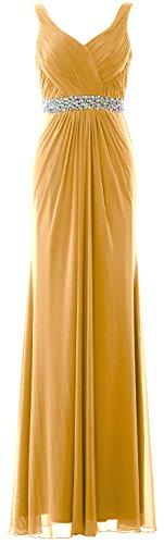 MACloth Women Sheath Long Prom Dress Straps V Neck Weddin...