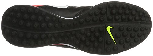 Nike Herren Tiempo Genio II Leather TF Fußballschuhe Schwarz (Black/White/Hyper Orange/Volt)