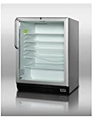 Summit SCR600BLPUBCSS Beverage Refrigeration, Glass/Stainless-Steel