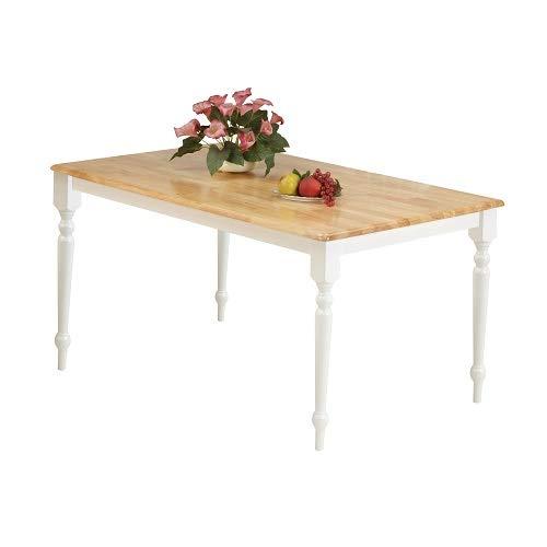 ACME Farmhouse Dining Table, Natural & White