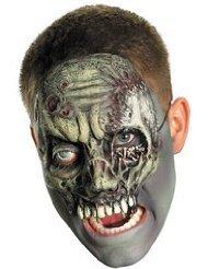 Chinless Walking Zombie Vinyl Mask Costume Accessory