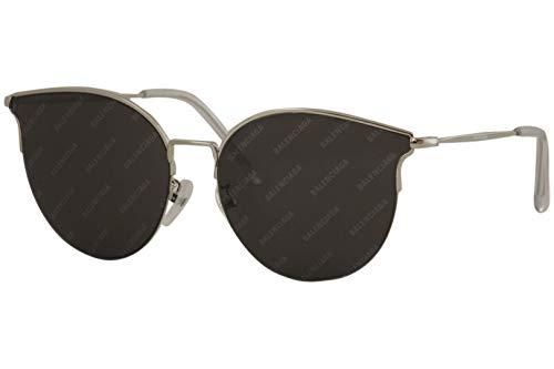 Balenciaga BB0021SK Sunglasses 004 Silver/Grey Mirror Lens 61 mm