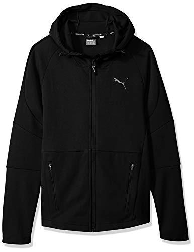 (PUMA Men's EVOSTRIPE Move Hooded Jacket Black, M )