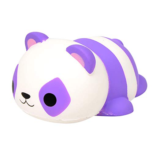 Children's Adult Toys Simulation Cute Purple Streak Panda Slow Rebound Decompression Puzzle Plaything Toy (Purple)