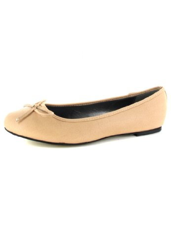 Andres Machado Damen Ballerinas - Beige Schuhe in Übergrößen