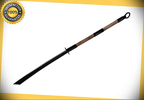 53'' Full Tang Hand Forged Carbon Steel Naginata Warrior Sword Song Pudao NEW perfect for cosplay outdoor camping