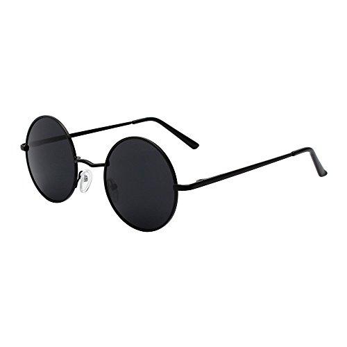 pour et soleil polarisées Lunettes Huateng Vintage UV400 Noir lunettes femmes soleil hommes de de Gris wgSxH