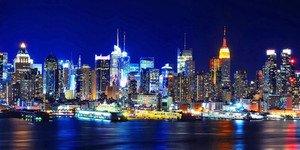 New York City At Nightキャンバスまたは印刷壁アート Fine Paper - 16x32 083E939BBB8E46548A2FC445388BC024 Fine Paper - 16x32  B00CDEEJLC