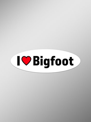 I Love Bigfoot Vinyl Decals Stickers  | Cars Trucks Vans Win