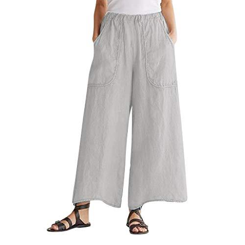 CCatyam Plus Size Pants for Women, Trousers Harem Baggy Loose Wide Leg Fashion Gray
