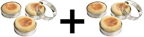 Fox Run Set of Four English Muffin Rings, 4 Ct