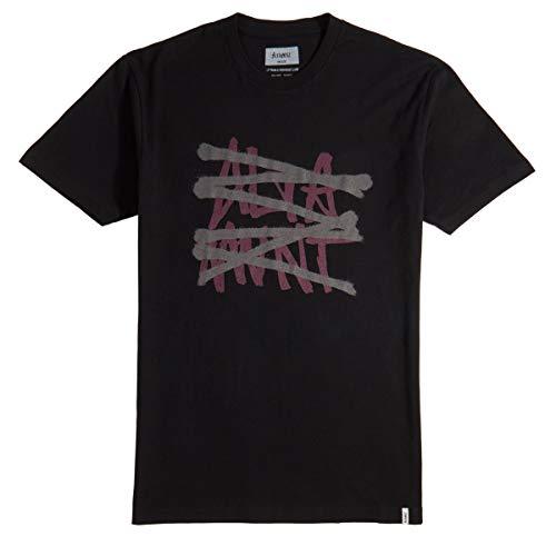 Tee Altamont (ALTAMONT No Logo Wash T-Shirt - Black/Grey - XL)