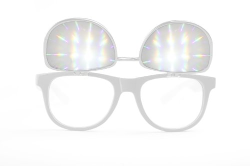 Flip Diffraction Glasses - High Quality Effect - Rave Accessories - - Eye Sunglasses Love