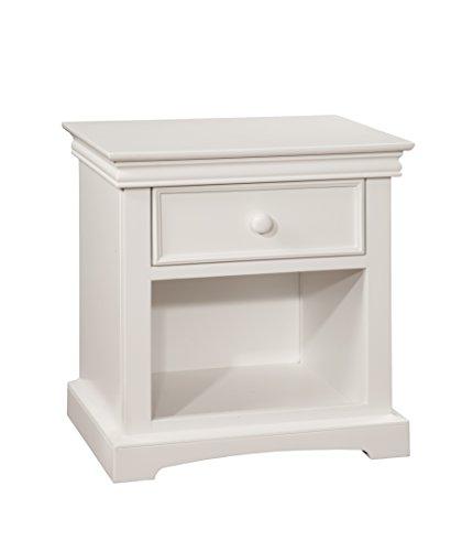 Bolton Furniture 8601500 Cambridge 1-Drawer Nightstand, White