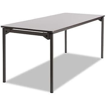 Iceberg 65807 Maxx Legroom Rectangular Folding Table 48w x 24d x 29-1//2h Gray//Charcoal