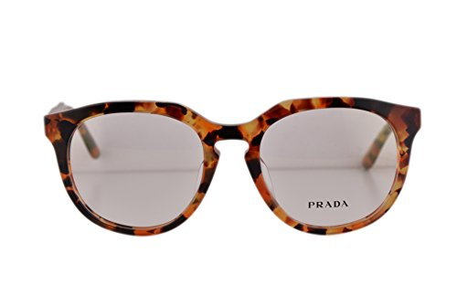 Prada PR13SVF Eyeglasses 50-18-140 Brown Havana Orange UBM1O1 VPR13SF For Women (FRAME - Tiffanyco Www