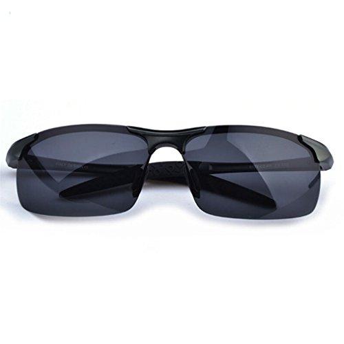 Aleación BEI Medio de Negro de de de HT los de polarizadas magnesio Espejo Gafas Sol Marco de Conducción Hombres wfzqxXWd8