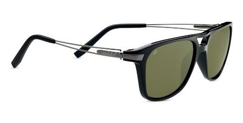 Serengeti Flex Empoli Sunglasses, Polarized 555nm, Shiny Black