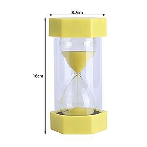 Cristal de Arena de Vidrio Reloj de Arena 3/10/20/30/60 Minutos Temporizador Reloj Decoración de la Oficina en Casa Regalo(30 Minutos Rojo) 6