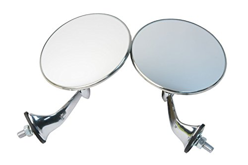 URO Parts MH3C Lucas Style Convex Glass Door Mirror - Pair