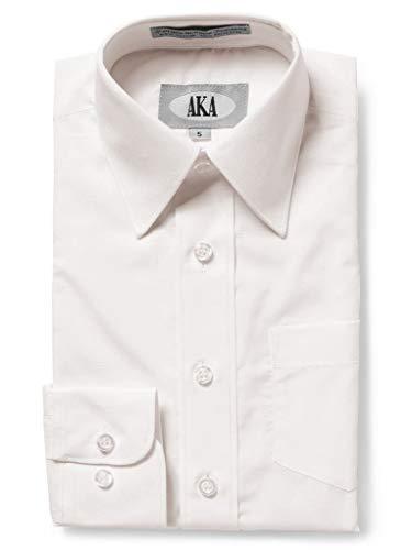 Apparel Ecru (AKA Boys Wrinkle Free Solid Long Sleeve Dress Shirt - Ecru 8)