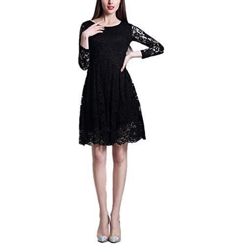 BBethun Jupe de Robe lgante  Taille Haute en Dentelle  imprim Floral pour Femme (Color : Red, Size : S) Black
