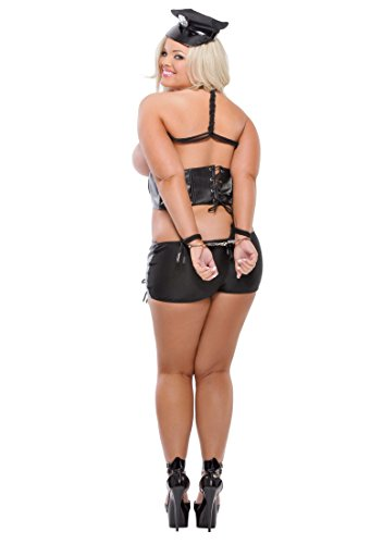 Pipedream Fetish Fantasy Lingerie Bad Cop with Handcuffs, Queen, Black by Pipedream