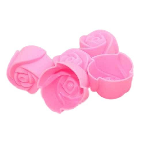 Homiki Lote de 10 unidades de moldes de silicona en 3D para decoraci/ón con fondant dise/ño de rosa