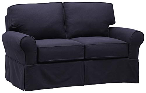 "Stone & Beam Carrigan Casual Loveseat, 68""W, Navy"