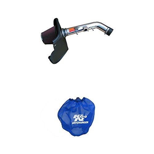 (K&N 77-9015KP Performance Air Intake System with Blue Air Filter Wrap)