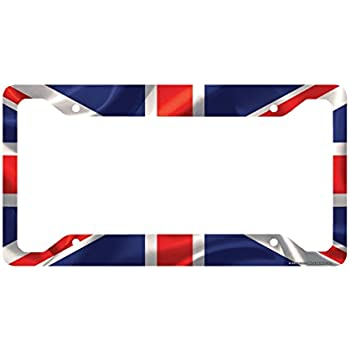 Amazon.com: Airstrike British Flag License Plate Frame, Union Jack ...
