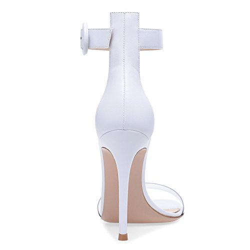 Heel Strap PVC Ladies amp; B Stilettos High Sandals Casual Party Buckle Womens Party Shoes Club Heel for Evening Shoes Stiletto Dress q4tIznxwp