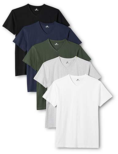 Lower East Men's V-Neck T-Shirt T-Shirt (Pack of 5)
