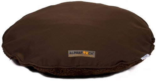 AlphaPooch Drifter Round Dog Bed, Coco Fabric with Coco Flee