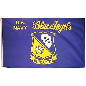 Flag USN Navy Blue Angels Poly 3ft X 5ft